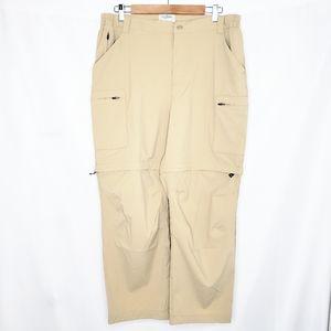 LL Bean Women's Tan Convertible Hiking Pants L/Reg